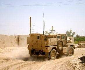 Army truck in the desert